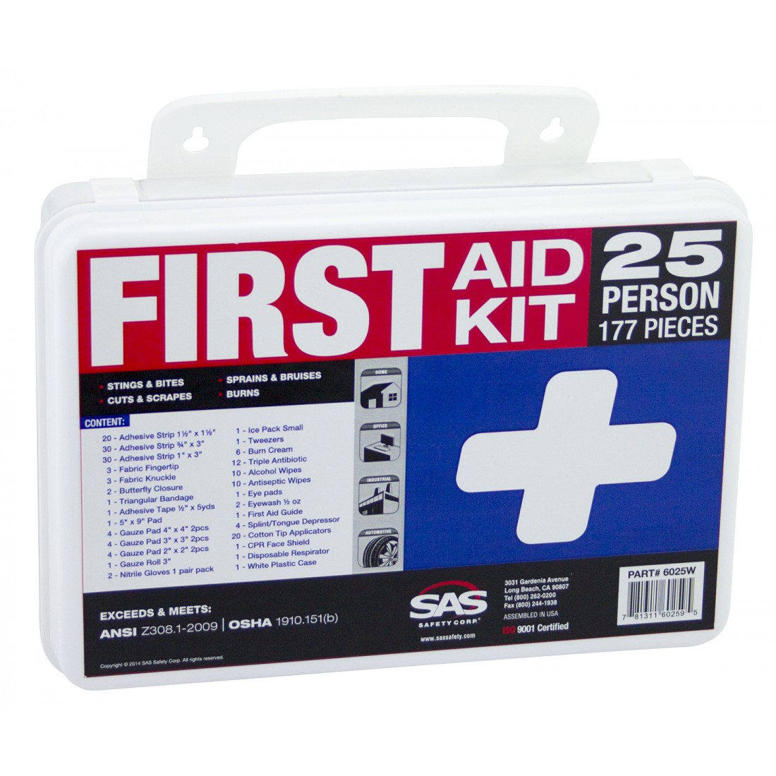 6025W_First_Aid_Kit_SAS_Safety
