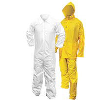 Coveralls, Rain Suits and Aprons
