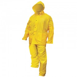 Heavy-Duty PVC/Poly Rain Suit - Large
